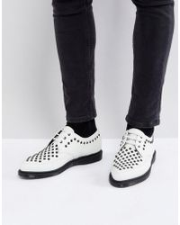 Dr. Martens Willis - Creepers cloutées - Blanc