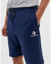 Converse Small Logo Jersey Shorts - Blue