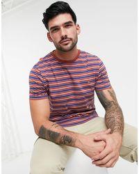 Farah Mansour Stripe T-shirt-neutral - Red