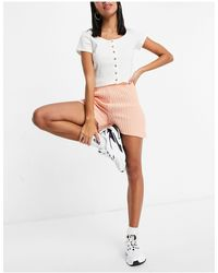I Saw It First Knitted Shorts - Pink