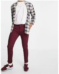 Farah Drake Chino Twill Slim Fit Trousers - Red