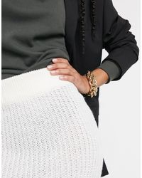 AX Paris Knitted Midi Skirt - Black