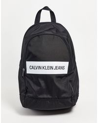 Calvin Klein Backpack With Panel Logo - Black