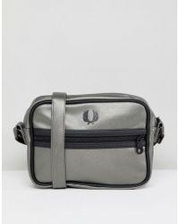 Fred Perry - Metallic Zip Cross Body Bag - Lyst