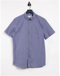 Lacoste Хлопковая Рубашка Классического Кроя В Клетку -темно-синий