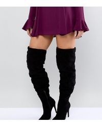 c9dc0e830d2 Women s New Look Over-the-knee boots On Sale - Lyst