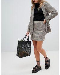 Monki - Checked Skirt Co-ord - Lyst
