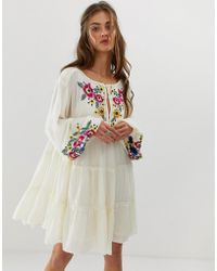 Free People Spell On You Embroidered Shift Dress - White
