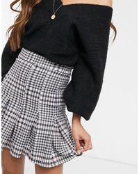 ASOS Box Pleat Mini Skirt - Black