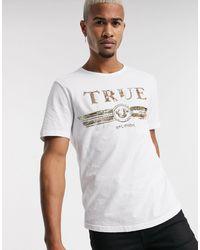 True Religion Camiseta blanca con logo - Blanco