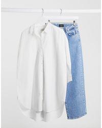 SELECTED Femme Longline Shirt - White