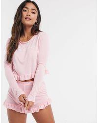 In The Style Пижама Розового Цвета С Оборками X Billie Faiers-розовый
