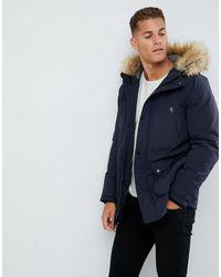 Burton Parka Jacket In Navy - Blue