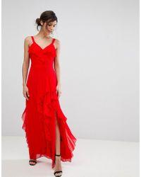 Coast - Illy Ruffle Maxi Dress - Lyst