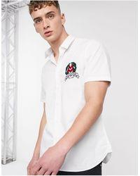 Love Moschino Chemise manches courtes avec emblème - Blanc