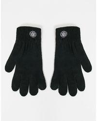 ASOS Вязаные Перчатки С Вышивкой В Виде Цветка - Черный