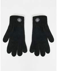 ASOS Knit Gloves With Flower Embroidery - Black