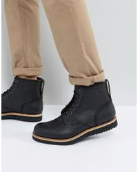 Grenson - Dawson Pebble Grain Lace Up Boots - Lyst