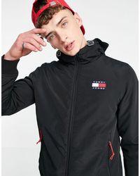 Tommy Hilfiger Утепленная Нейлоновая Куртка Черного Цвета -черный Цвет