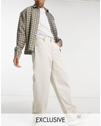 Reclaimed (vintage) Inspired – Baggy Jeans - Weiß