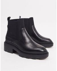 Ash Черные Ботинки Челси На Массивной Подошве -черный