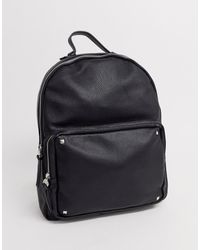 Stradivarius - Backpack With Studs In Black - Lyst
