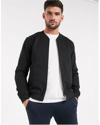 New Look Lightweight Cotton Bomber Jacket - Black