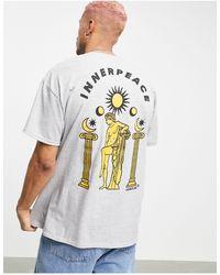Honour HNR LDN - T-shirt à imprimé Inner Peace au dos - Gris