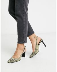 Mango Setback Heeled Shoes - Multicolor