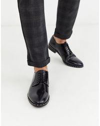 Bolongaro Trevor Stud Sole Patent Leather Shoes - Black