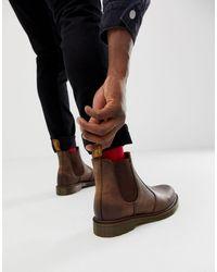 Dr. Martens - Коричневые Ботинки Челси Dr.martens 2976-коричневый - Lyst