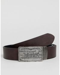Levi's - Rio Leather Belt With Plate Buckle - Lyst