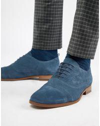 KG by Kurt Geiger - Kg By Kurt Geiger Oxford Shoes In Navy Suede - Lyst