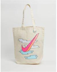 Nike Heritage - Tote bag en toile - Blanc cass - Neutre