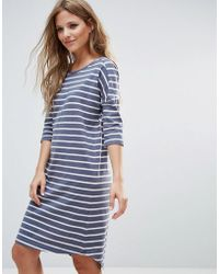 Blend She - Henry Striped Tee Dress - Lyst