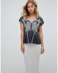 Sugarhill - Butterfly Cutwork Embroidered Top - Lyst