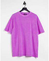 ASOS Oversized-футболка Неонового Фиолетового Цвета - Пурпурный