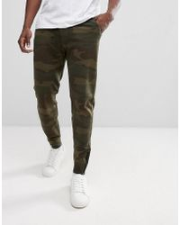 Abercrombie & Fitch | Black Label Sports Cuffed Joggers In Green Camo | Lyst