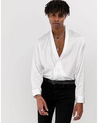 Heart & Dagger Kimono Shirt - White