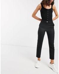 ASOS Ultimate Linen Cigarette Pants - Black
