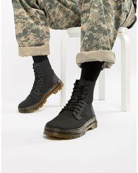 Dr. Martens Черные Ботинки Combs-черный