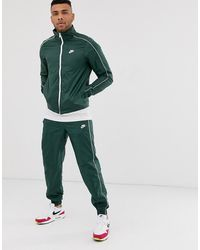 Nike Logo Tracksuit In Green