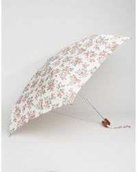 Cath Kidston - Tiny 2 Kingswood Rose Ivory Umbrella - Lyst