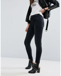 Pull&Bear Denim Stirrup Leggings - Black