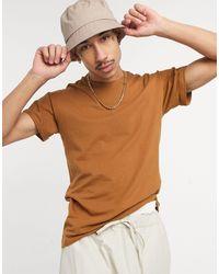 Pull&Bear Join Life - T-shirt moulant - Beige - Neutre