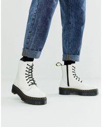 Dr. Martens - Белые Кожаные Ботинки На Платформе - Lyst