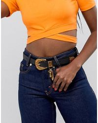 ASOS - Design Western Waist And Hip Belt In Old Gold With Charms - Lyst