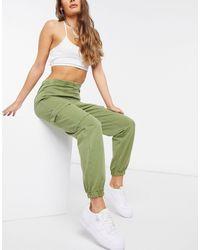 NA-KD Acid Wash sweatpants - Green
