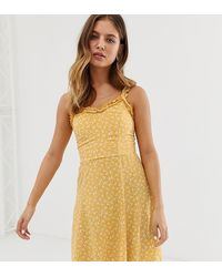 New Look - Sundress With Ruffle Edge - Lyst