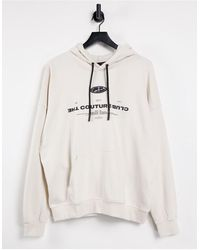 The Couture Club Flock Signature Hoodie - White